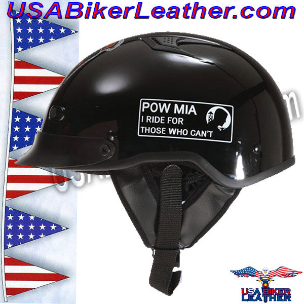 DOT POW MIA Motorcycle Helmet / Never Forget / SKU USA-1VPOW-HI - USA Biker Leather - 2