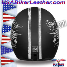 DOT Daytona Cruiser Flying Aces Open Face Motorcycle Helmet / SKU USA-DC6-FAC-DH - USA Biker Leather