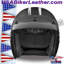 DOT Daytona Cruiser Flying Aces Open Face Motorcycle Helmet / SKU USA-DC6-FAC-DH - USA Biker Leather - 3