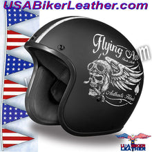 DOT Daytona Cruiser Flying Aces Open Face Motorcycle Helmet / SKU USA-DC6-FAC-DH - USA Biker Leather - 4