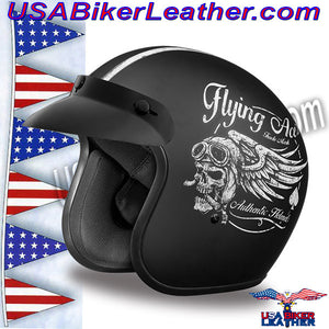 DOT Daytona Cruiser Flying Aces Open Face Motorcycle Helmet / SKU USA-DC6-FAC-DH - USA Biker Leather - 1