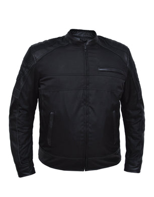 UNIK Men's Nylon / Leather Textile Jacket