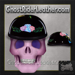 Eagle Style with Diamond Sugar Skull Novelty Motorcycle Helmet / SKU GRL-6002DS-DH