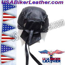 Leather Skull Cap with Studs / SKU USA-AC007-13-DL - USA Biker Leather - 3