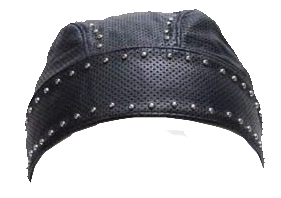 Leather Skull Cap with Studs - SKU USA-AC007-13-DL