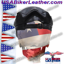 Leather Cap with Chain / SKU USA-AC008-DL - USA Biker Leather - 2