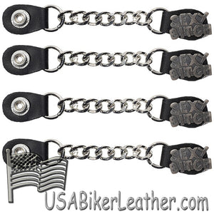 Set of Four Sexy B*tch Vest Extenders with Chrome Chain - SKU USA-AC1059-DL