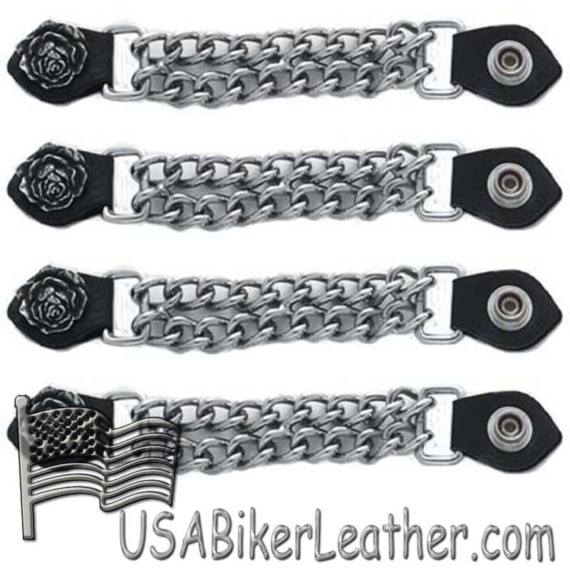 Set of Four Rose Vest Extenders with Chrome Chain - SKU USA-AC1061-DL