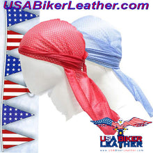 Perforated Doo-Rag / SKU USA-AC8-DL - USA Biker Leather - 3