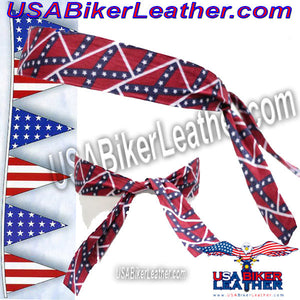 Set of Two Rebel Flag Biker Headbands / SKU USA-AC9-REBEL-DL - USA Biker Leather - 3