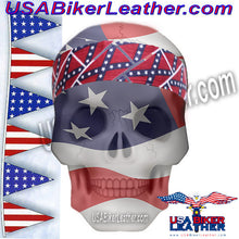 Set of Two Rebel Flag Biker Headbands / SKU USA-AC9-REBEL-DL - USA Biker Leather - 1