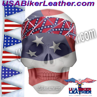 Set of Two Rebel Flag Biker Headbands / SKU USA-AC9-REBEL-DL - USA Biker Leather