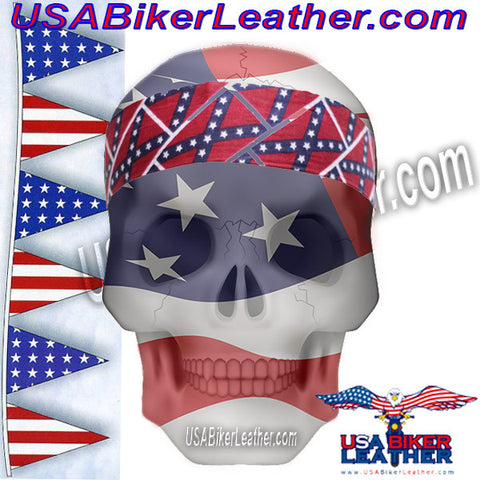 Set of Two Rebel Flag Biker Headbands / SKU USA-AC9-REBEL-DL