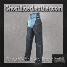 Mens Motorcycle Leather Chaps Hook To Your Belt / SKU GRL-AL2419-AL