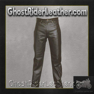 Mens 5 Pocket Leather Pants / SKU AL2500-AL