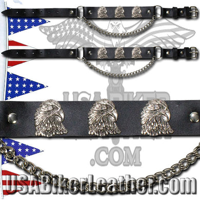 Pair of Biker Boot Chains - Eagle - SKU USA-BC12-DL - USA Biker Leather