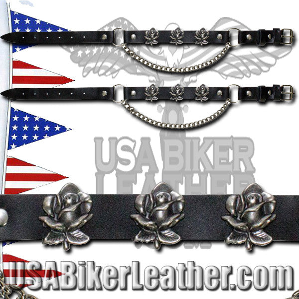 Pair of Biker Boot Chains - Rose - SKU USA-BC7-DL - USA Biker Leather