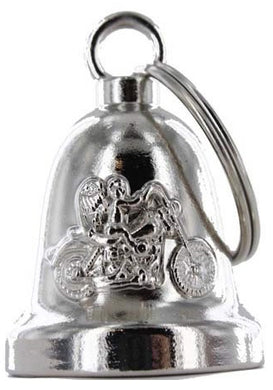 Angel Riding Motorcycle - Motorcycle Ride Bell - SKU USA-BLC19-DL - USA Biker Leather