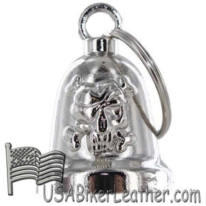 Skull and Crossbones - Motorcycle Ride Bell - SKU USA-BLC25-DL
