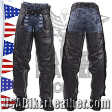 Leather Chaps with Braid Design for Men or Women / SKU USA-C326-DL - USA Biker Leather - 2