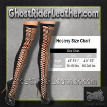 Two Pair of Ladies Black Zig Zag Net Thigh Highs - SKU GRL-1106-X2-EML