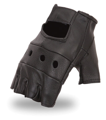 Fingerless Glove  | You Get Two Pair | FI160GL - USA Biker Leather