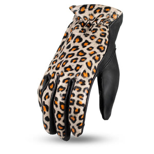 2-Toned Roper Ladies Leather Gloves - USA Biker Leather