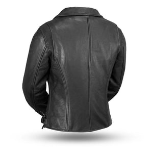 Monte Carlo Women's Classic Leather Jacket - USA Biker Leather