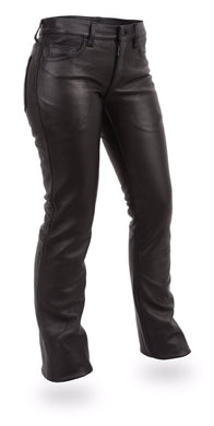 Alexis Leather Pants - Women's Leather Jeans On Sale - FIL710CFD - USA Biker Leather