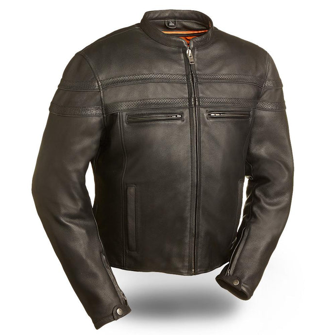 Stakes Racer - Men's Motorcycle Leather Jacket - USA Biker Leather