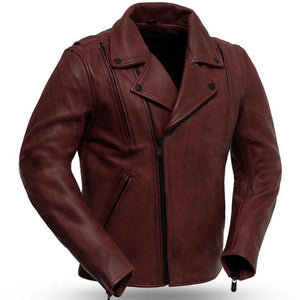 Night Rider - Men's Leather Motorcycle Jacket - FIM269CPMZ - USA Biker Leather