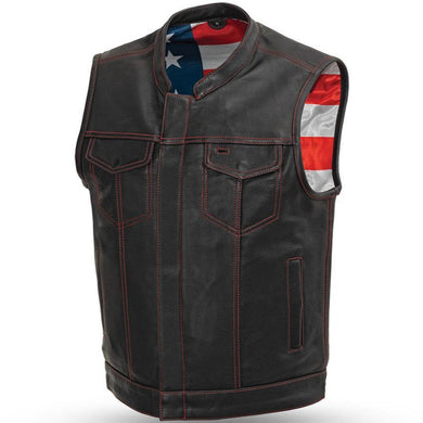 Born Free Motorcycle Leather Club Vest - USA Biker Leather