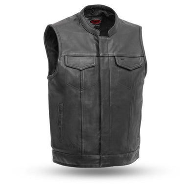 Sharp Shooter - Men's Motorcycle Leather Vest - USA Biker Leather