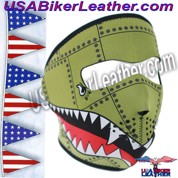 Bomber Neoprene Full Face Mask / SKU USA-FMD04-WNFM010-HI - USA Biker Leather