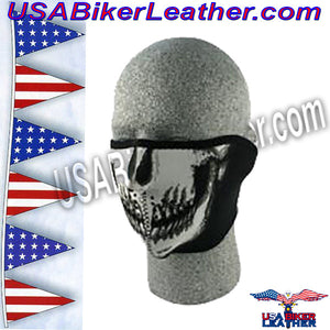 Skull Neoprene Half Face Mask / SKU USA-FMF08-WNFM002H-HI - USA Biker Leather