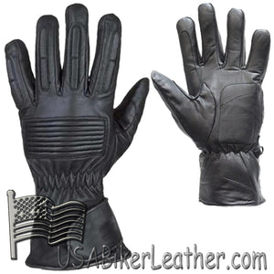 *IRREGULAR* Mens Full Finger Leather Motorcycle Riding Gloves - SKU USA-GL2099-00-DL