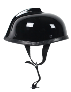 Gladiator Novelty Motorcycle Helmet in Gloss Black - SKU USA-GLAD-NOV-HI