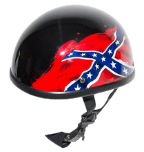 Rebel - Confederate Flag Novelty Motorcycle Helmet - SKU USA-H401-REBEL-DL