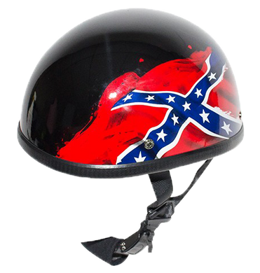 Rebel - Confederate Flag Novelty Motorcycle Helmet - SKU USA-H401-REBEL-DL - USA Biker Leather