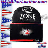DOT Fairy Flat Black Motorcycle Helmet / SKU USA-H1100-D2-FLAT-DL - USA Biker Leather - 4