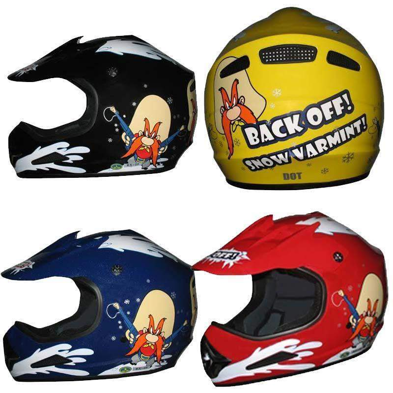 DOT Kids ATV - Dirt Bike - Snow Machine - Helmets - Back Off - Color Choice / SKU GRL-DOTATVKIDSBACKOFF-HI - USA Biker Leather
