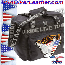 Live To Ride Motorcycle Cooler Bag / SKU USA-LUMCOOLTR-BN - USA Biker Leather - 2