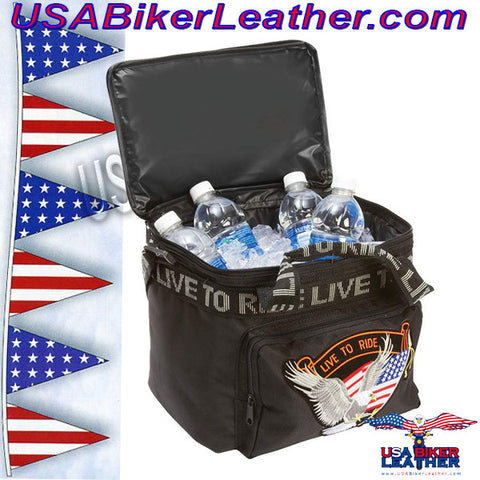 Live To Ride Motorcycle Cooler Bag / SKU USA-LUMCOOLTR-BN
