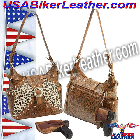 Casual Outfitters Western Style Concealed Carry Purse / SKU USA-LUPWCHL3-BN