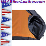 Ladies Leather Vest with Side Laces and Concealed Carry Pocket / SKU USA-LV8509-DL - USA Biker Leather - 4