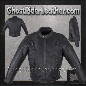 Mens Motorcycle Racer Jacket with Gun Pockets / SKU GRL-MJ711-DL