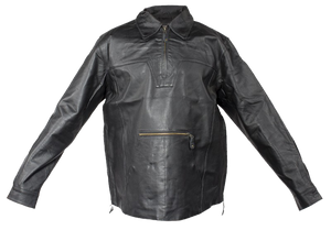 Mens Pullover Leather Shirt with Zipper Sides - SKU USA-MJ770-DL