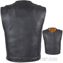 Mens Speedster Motorcycle Club Leather Vest - SKU GRL-MV8012-11-DL