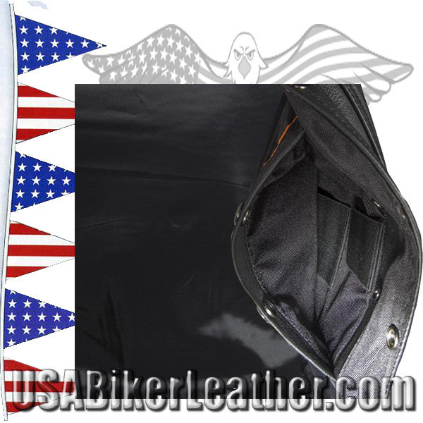 A Mens Classic Motorcycle Club Vest with Concealed Carry Pockets / SKU USA-MV8014-DL - USA Biker Leather - 3
