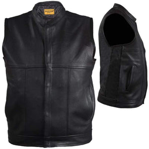 Mens Renegade Motorcycle Club Vest With Zipper Front - SKU GRL-MV8017-ZIP-11-DL - USA Biker Leather